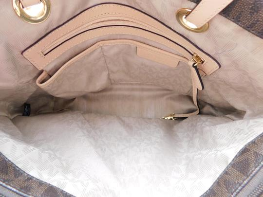 MICHAEL Michael Kors Jet Set West East Canvas Tote in Brown Image 8