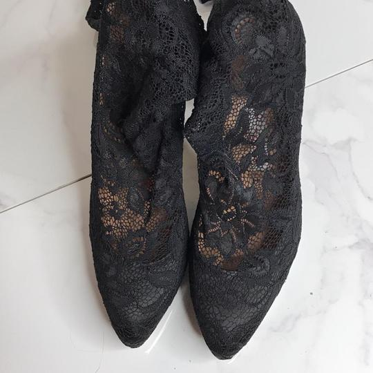 Gianmarco Lorenzi Sexy Lingerie Thigh High Stretch Lace Floral Lace Black Boots Image 7