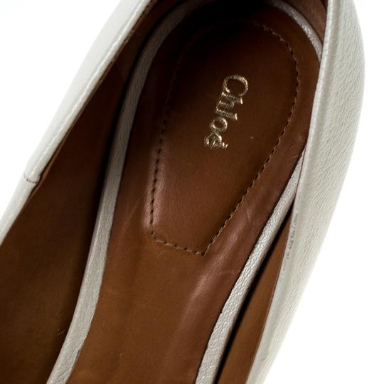Chloé Leather Beige Pumps Image 5