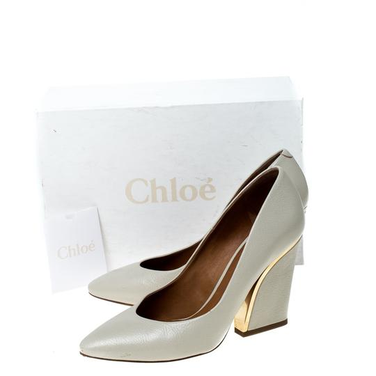Chloé Leather Beige Pumps Image 7