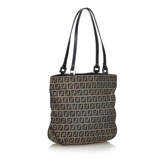 Preload https://img-static.tradesy.com/item/26167155/fendi-bag-with-blue-navy-canvas-fabric-zucchino-gray-leather-tote-0-0-540-540.jpg