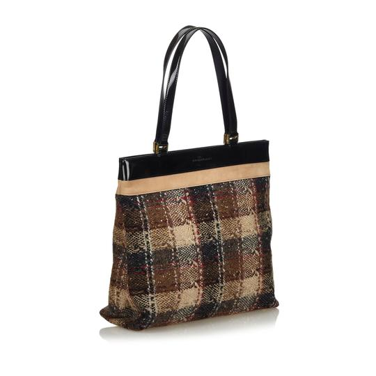 Burberry 9gbuto023 Vintage Patent Leather Tote in Brown Image 8
