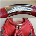 Gucci Leather Studded Bamboo Indy Hobo Shoulder Bag Image 2