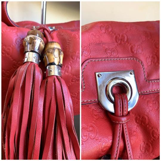 Gucci Leather Studded Bamboo Indy Hobo Shoulder Bag Image 7