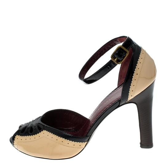 Marc by Marc Jacobs Patent Leather Ankle Strap Beige Sandals Image 1