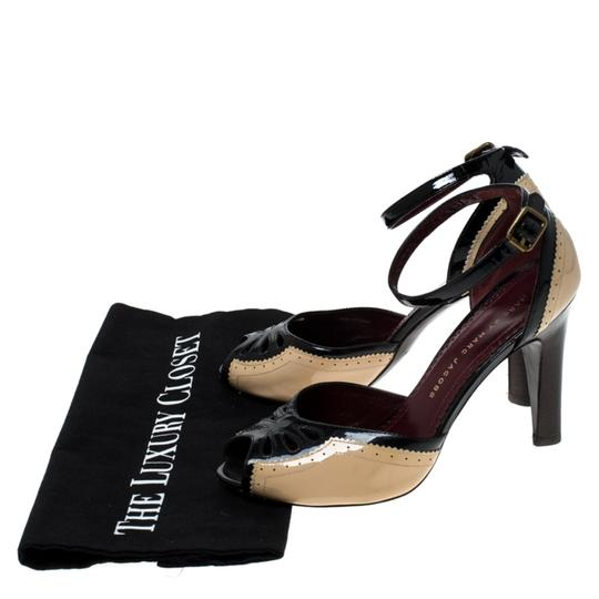Marc by Marc Jacobs Patent Leather Ankle Strap Beige Sandals Image 7