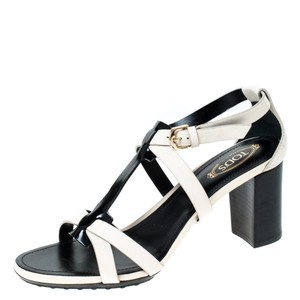Tod's Nubuck Leather Ankle Strap White Sandals