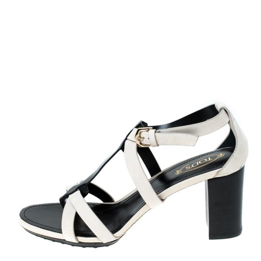 Tod's Nubuck Leather Ankle Strap White Sandals Image 1