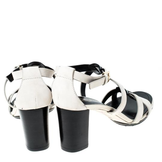 Tod's Nubuck Leather Ankle Strap White Sandals Image 3