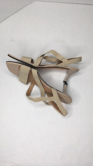 Stuart Weitzman Elastic Simple Elegant Kitten Heel Tan Sandals Image 3