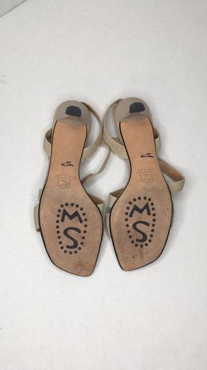 Stuart Weitzman Elastic Simple Elegant Kitten Heel Tan Sandals Image 4
