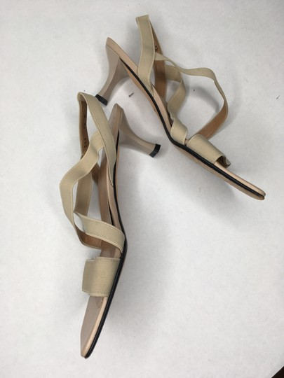 Stuart Weitzman Elastic Simple Elegant Kitten Heel Tan Sandals Image 8