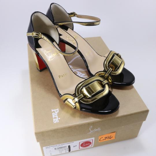 Christian Louboutin Chain Gold Heels Heel black Pumps Image 1