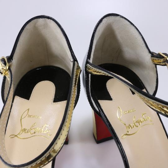 Christian Louboutin Chain Gold Heels Heel black Pumps Image 10