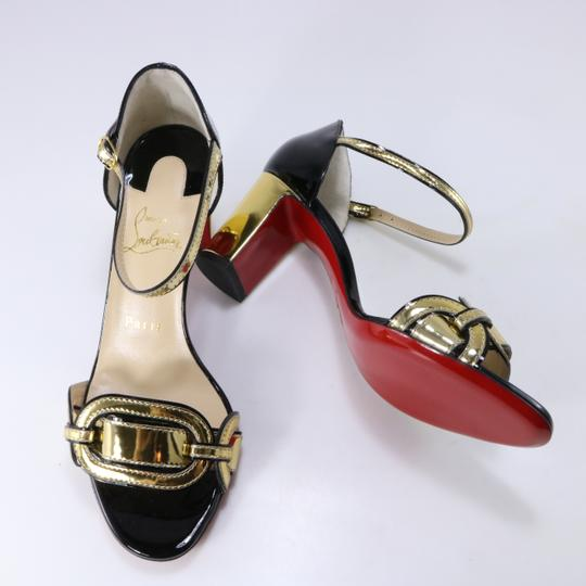 Christian Louboutin Chain Gold Heels Heel black Pumps Image 2