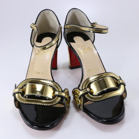 Christian Louboutin Chain Gold Heels Heel black Pumps Image 3