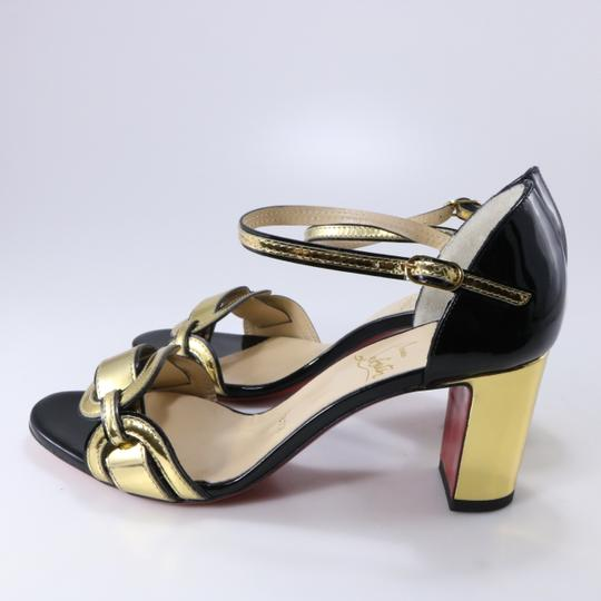 Christian Louboutin Chain Gold Heels Heel black Pumps Image 5