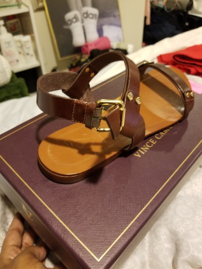 Vince Camuto Leather Brown Sandals Image 6