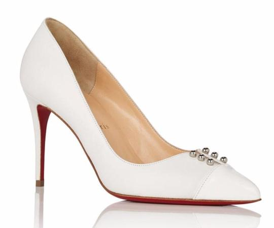 Preload https://img-static.tradesy.com/item/26167293/christian-louboutin-white-predupump-85mm-nappa-leather-round-spike-simple-heels-c248-pumps-size-eu-4-0-0-540-540.jpg