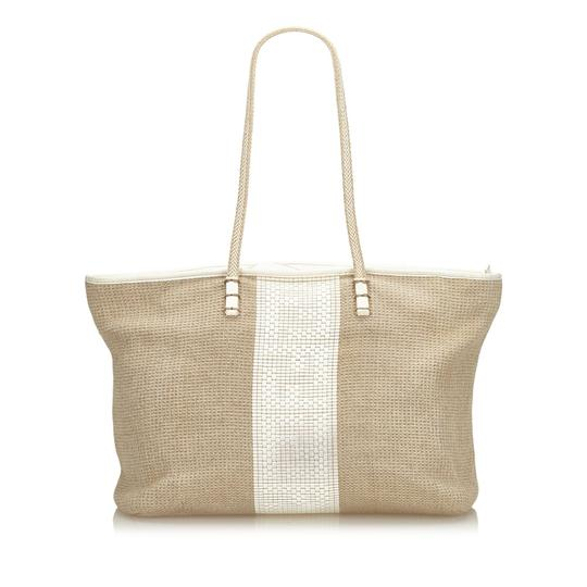 Preload https://img-static.tradesy.com/item/26167330/fendi-light-with-white-ivory-hemp-natural-material-italy-brown-leather-tote-0-0-540-540.jpg