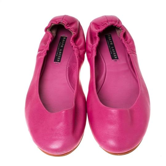 Ralph Lauren Collection Leather Ballet Pink Flats Image 1