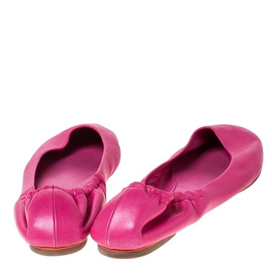 Ralph Lauren Collection Leather Ballet Pink Flats Image 2