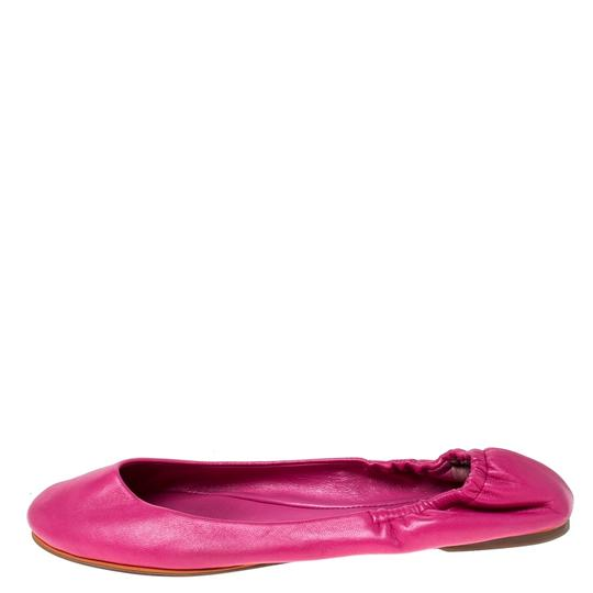 Ralph Lauren Collection Leather Ballet Pink Flats Image 3
