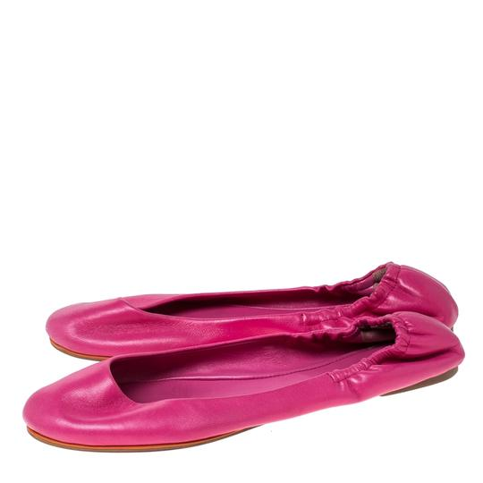 Ralph Lauren Collection Leather Ballet Pink Flats Image 4