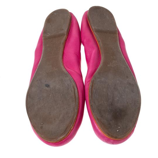 Ralph Lauren Collection Leather Ballet Pink Flats Image 5