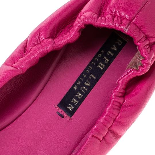 Ralph Lauren Collection Leather Ballet Pink Flats Image 6