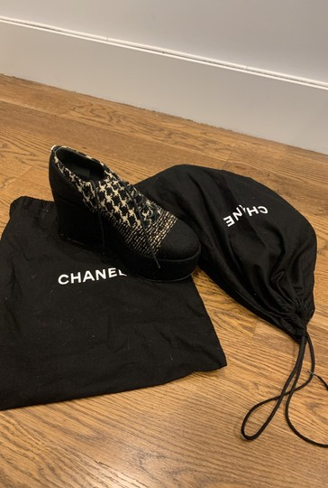 Chanel black and white Platforms Image 5