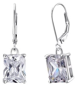 Other Stunning statement luxury 8 Carat VVS1 lab created diamond Solid 925 Sterling Silver Earrings