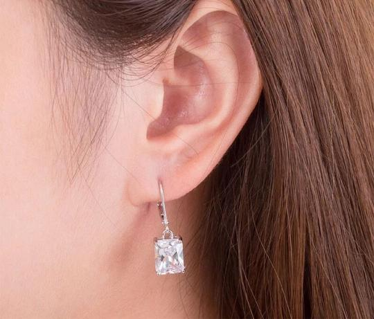 Other Stunning statement luxury 8 Carat VVS1 lab created diamond Solid 925 Sterling Silver Earrings Image 1