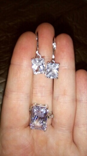 Other Stunning statement luxury 8 Carat VVS1 lab created diamond Solid 925 Sterling Silver Earrings Image 4