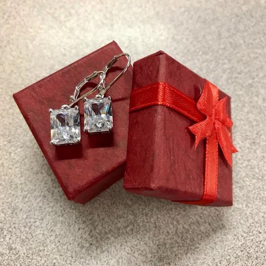 Other Stunning statement luxury 8 Carat VVS1 lab created diamond Solid 925 Sterling Silver Earrings Image 5