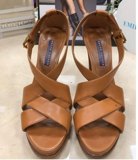Ralph Lauren Collection tan Platforms Image 1