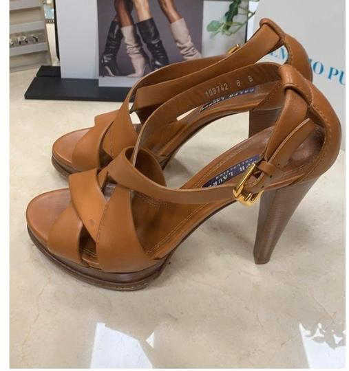 Ralph Lauren Collection tan Platforms Image 7