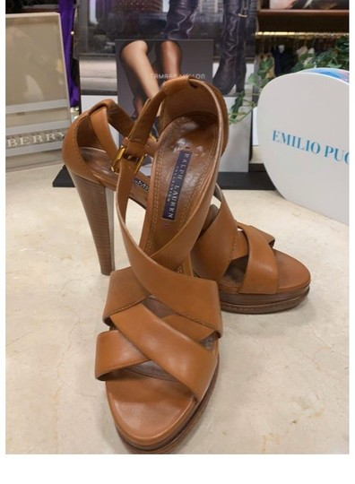 Ralph Lauren Collection tan Platforms Image 9