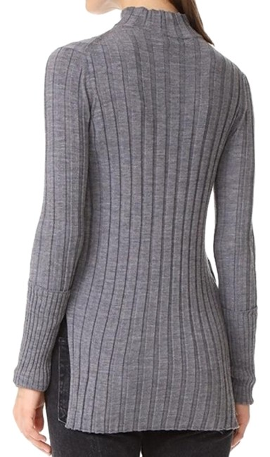 Preload https://img-static.tradesy.com/item/26167366/theory-wide-rib-mock-neck-gray-sweater-0-3-650-650.jpg