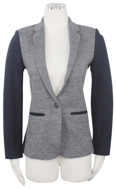Preload https://img-static.tradesy.com/item/26167432/jcrew-grey-black-color-contrast-trim-1-button-fitted-jacket-notch-collar-blazer-size-4-s-0-2-650-650.jpg