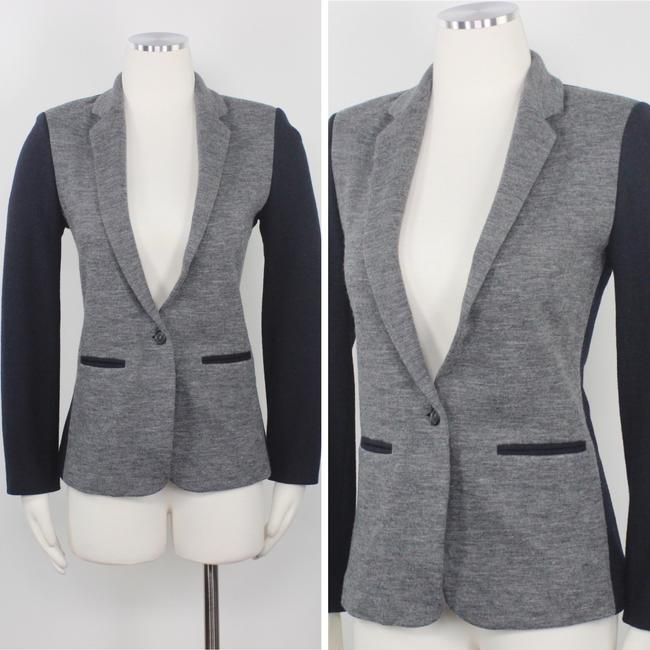 J.Crew Color-blocking Career Professional Collection Work Grey Black Blazer Image 1