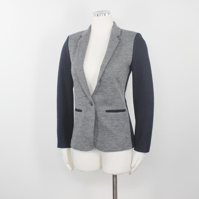 J.Crew Color-blocking Career Professional Collection Work Grey Black Blazer Image 2