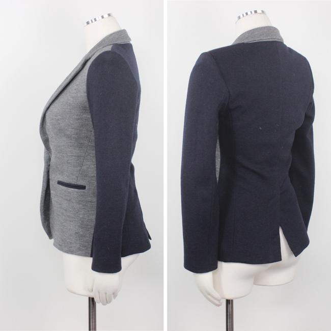 J.Crew Color-blocking Career Professional Collection Work Grey Black Blazer Image 3