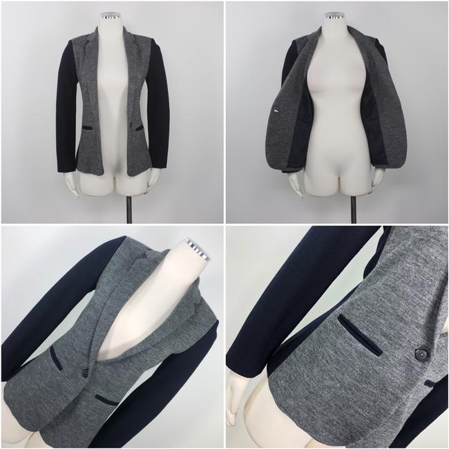 J.Crew Color-blocking Career Professional Collection Work Grey Black Blazer Image 4