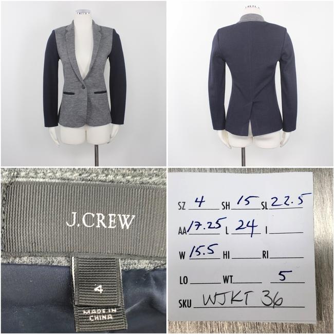 J.Crew Color-blocking Career Professional Collection Work Grey Black Blazer Image 7