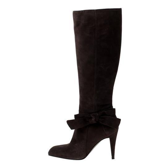 Sergio Rossi Suede Brown Boots Image 1