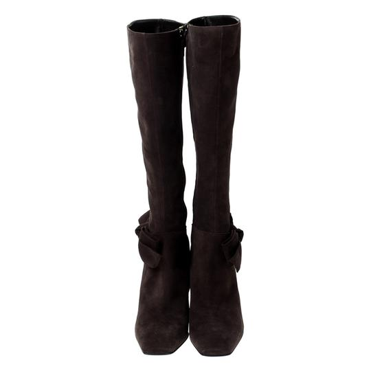 Sergio Rossi Suede Brown Boots Image 2