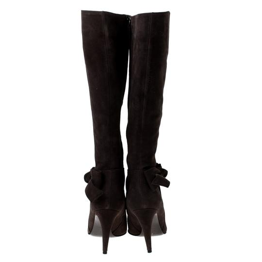 Sergio Rossi Suede Brown Boots Image 3