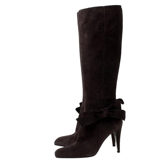 Sergio Rossi Suede Brown Boots Image 4