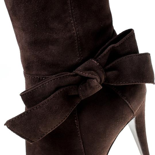 Sergio Rossi Suede Brown Boots Image 5
